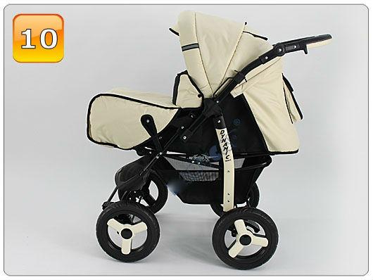 Barnvagn,Liggdel + Sittdel + Bilbarnstol + Babylift - 4in1 DYNAMIC