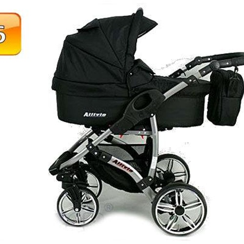 Barnvagn,Liggdel + Bilbarnstol + Sittdel - 3in1 ALLIVIO