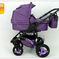 Barnvagn,Liggdel + Bilbarnstol + Sittdel - 3in1 ALLIVIO II