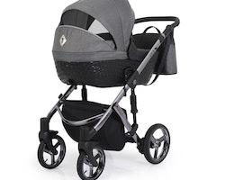 Barnvagn,Liggdel + Bilbarnstol + Sittdel - 3in1 Tiaro Premium