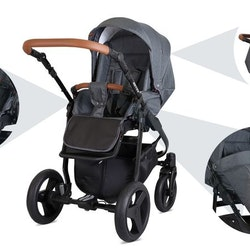 Barnvagn,Liggdel + Bilbarnstol + Sittdel - 3in1 Rotax