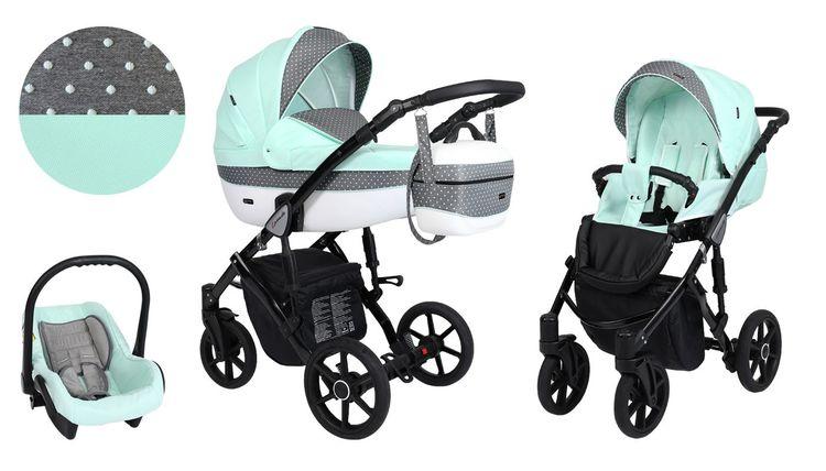 Barnvagn,Liggdel + Bilbarnstol + Sittdel - 3in1 Lavado
