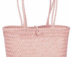 Flätad väska Rosa
