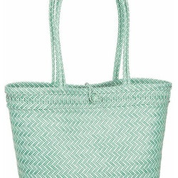 Flätad väska grön