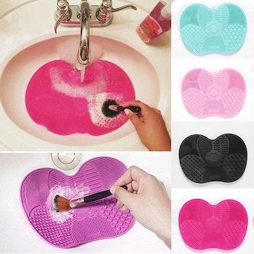 Makeup Brush Cleaning Pad Mat Lila