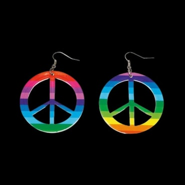 Hippie peace örhängen