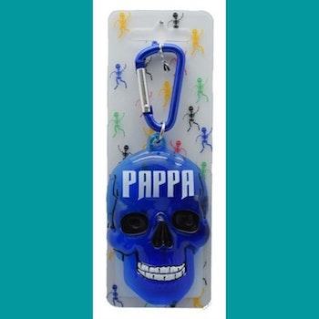 Nyckelring dödskalle PAPPA
