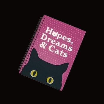 Anteckningsbok HOPES, DREAMS & CATS