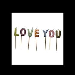 Tårtljus LOVE YOU