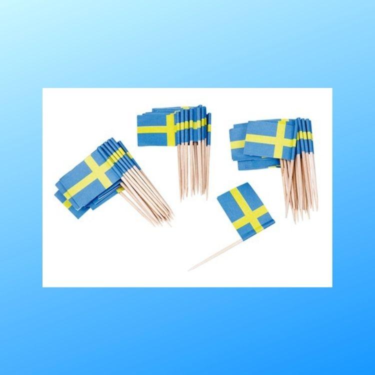 Drinkflagga SVERIGE 50p