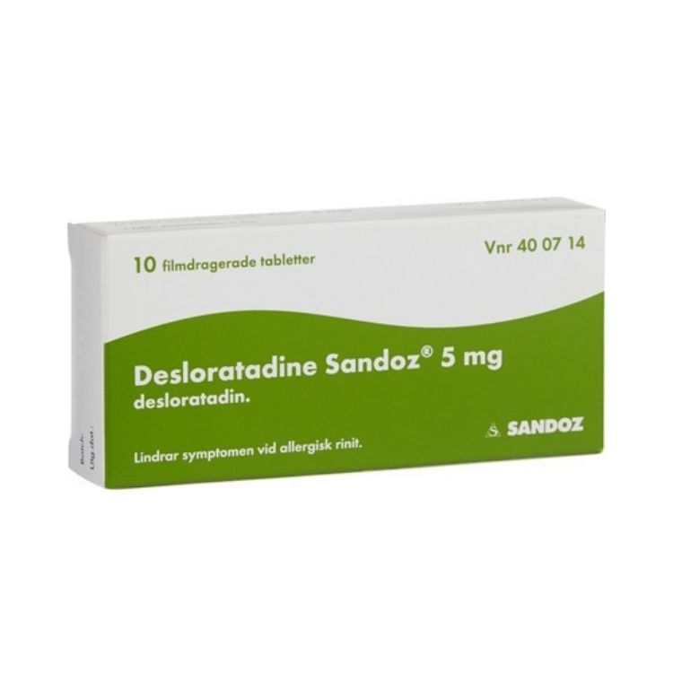Desloratadine Sandoz, filmdragerad tablett 5 mg 10 st