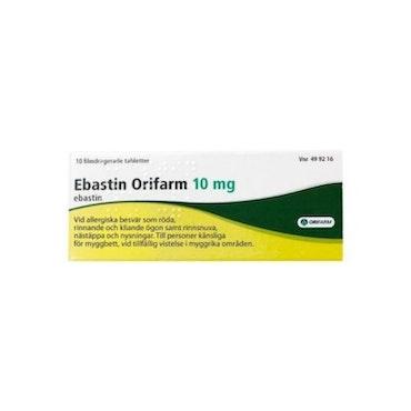 Ebastin Orifarm, filmdragerad tablett 10 mg 10 st