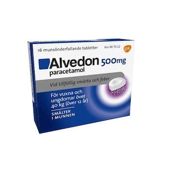 Alvedon, munsönderfallande tablett 500 mg 16 st