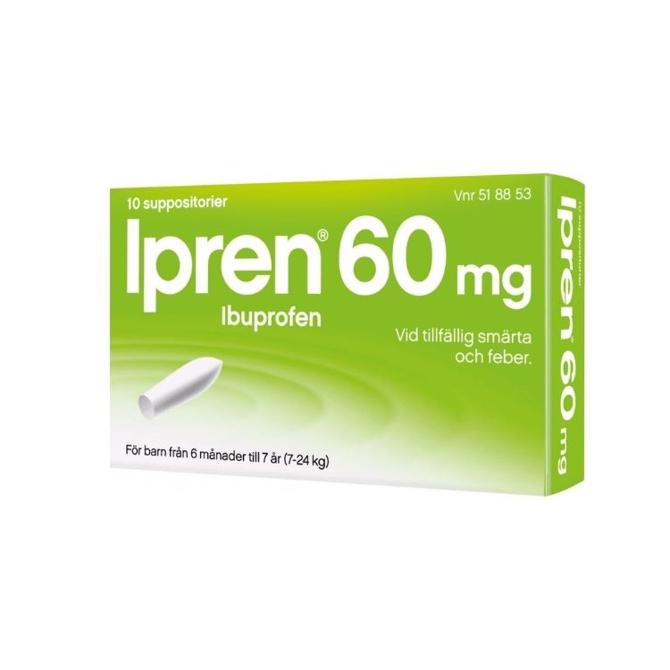 Ipren suppositorium 60 mg 10 st