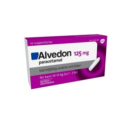 Alvedon Suppositorium (10-15 kg) 125 mg 10 st