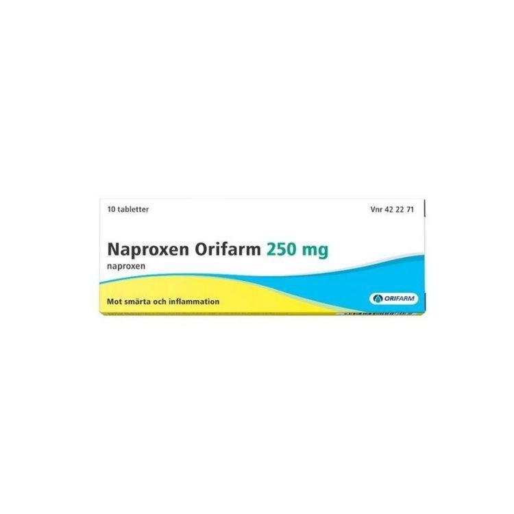 Naproxen Orifarm, tablett 250 mg 20 st