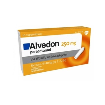 Alvedon, suppositorium 250 mg 10 st (15-40 kg)
