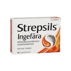 Strepsils Ingefära, sugtablett 36 st