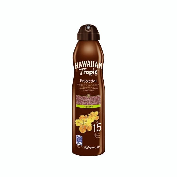 Hawaiian Tropic Dry Oil Argan C-Spray 15 SPF 180 ml