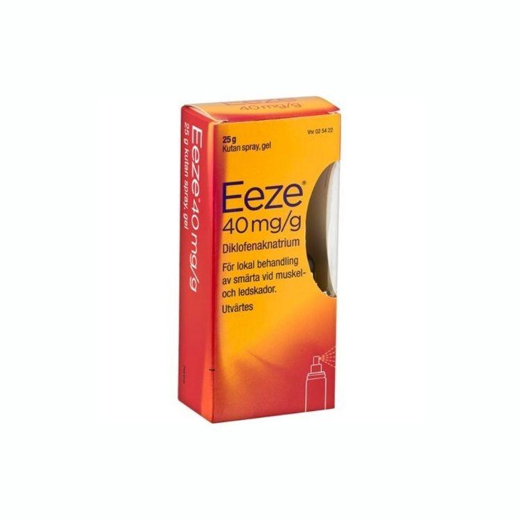 Eeze kutan spray gel 40 mg/g 25 g
