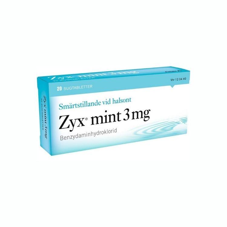 Zyx mint, sugtablett 3 mg 2 x 10 st