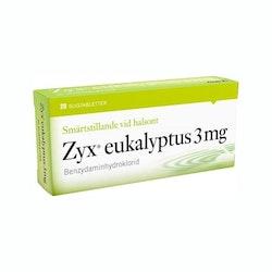 Zyx eukalyptus, sugtablett 3 mg 2 x 10 st