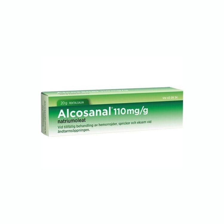 Alcosanal rektalsalva 110 mg/g 20 gr