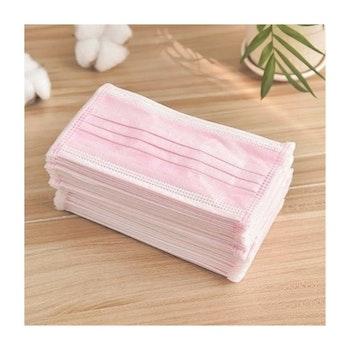 Munskydd disponibel 3 lager 50 stycken rosa