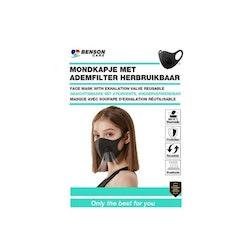 Återanvändningsbar Munskydd med utandningsventil 1 pack