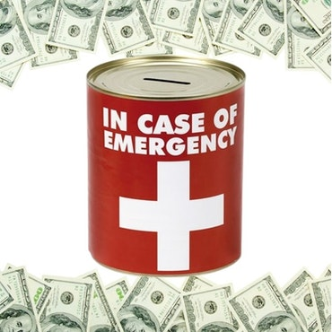Plåtsparbössa IN CASE OF EMERGENCY