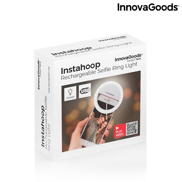 Återuppladdningsbar ljusring för selfies Instahoop InnovaGoods