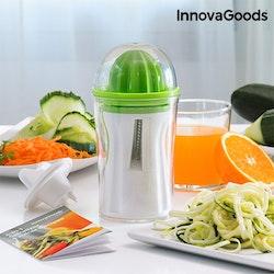 InnovaGoods 4-i-1 Spiralskärare & Juicer med Receptbok