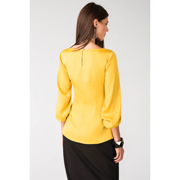 Elegant Mustard Blus baksida