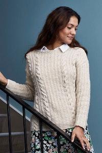 Sweater med flätor 899312