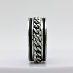 Chic Chain Leather Stainless Steel Ring - SWEVALI