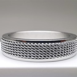 Network Style Stainless Steel Ring - SWEVALI