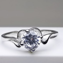 Silver Heart Jewel Silver Ring 925 - SWEVALI