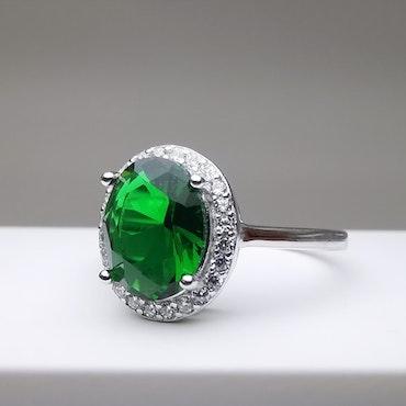 Emerald Hunt Silver Ring 925 - SWEVALI