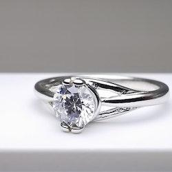Silver Eye Straight Silver Ring 925 - SWEVALI