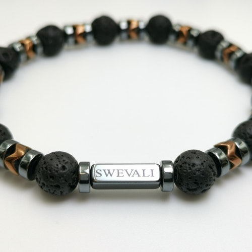Lava Metallic Pärlarmband - SWEVALI