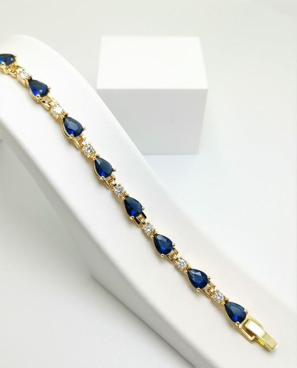 BLUE DEW Chain Armband