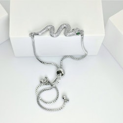 Snake Style Silver Edition Armband with Chain - SWEVALI