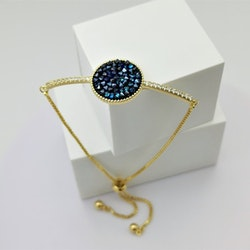 Paradise Blue Gold Edition Armband with Chain - SWEVALI