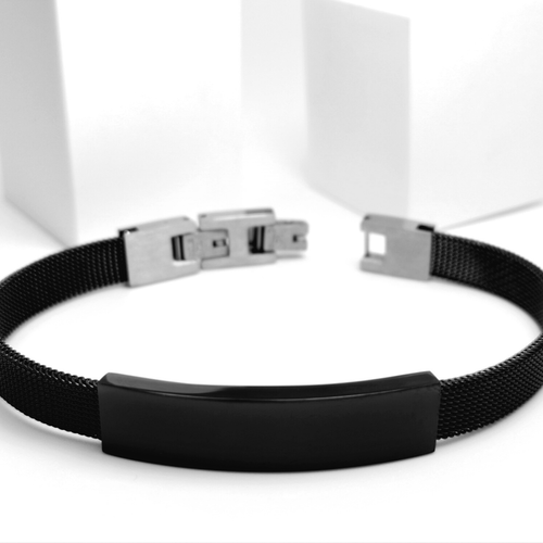 Black Contrast Metal Armband - SWEVALI