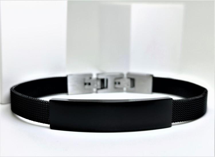 Black Contrast Metal Armband bild 2 är en otroligt vacker kombination rik av stanlees steel