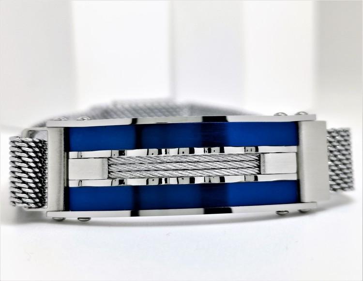 Confident Blue Metal Armband  Bild 4 är en otroligt snygg och elegant herr armband. Hög kvalité Stainless Steel 316 L. Perfekt smycke för present