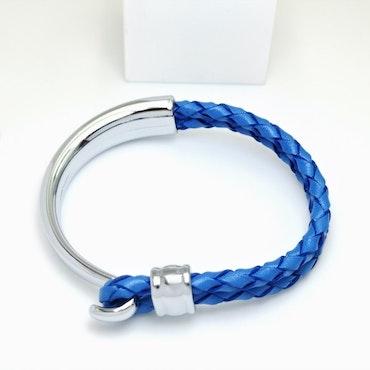 Concept Blue Leather Metal Armband - SWEVALI