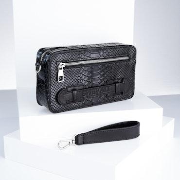 "Leather Clutch Bag ""Sneaky Lyx Trace"" Mini Charm - SWEVALI"