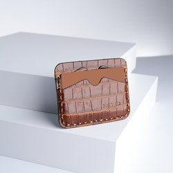 "Leather Card Holder ""Coco Sahara"" The opulent - SWEVALI"