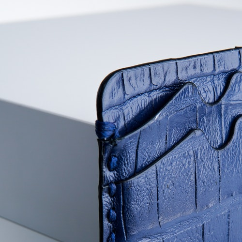 """Leather Card Holder """"Coco Blue Night"""" The opulent - SWEVALI"""